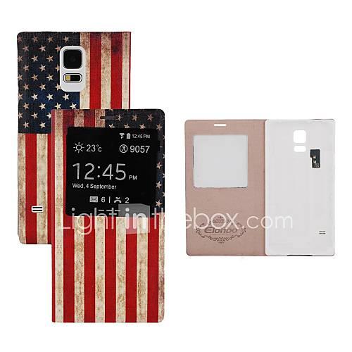 elonbo amerikanische Flagge Batterie Back Flip Cover Ganzkörper-Fall mit Auto-Sleep-Funktion für Samsung Galaxy i9600 s5