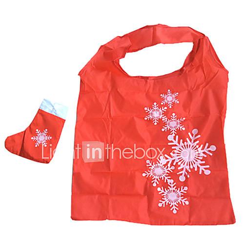 umweltfreundliche snow Muster Falten Einkaufstasche (gelegentliche Farbe)