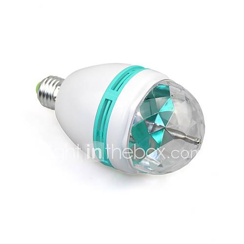 E27 Full Color 3W RGB LED projector Crystal Stage Light Magic Ball DJ dace party disco effect Light Bulb Lamp (110-240V)