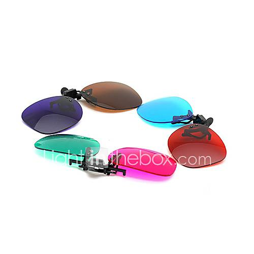 MK High Definition Red Blue Myopia Clamping Piece Suits of 3D Glasses for TV Computer (3Pcs)