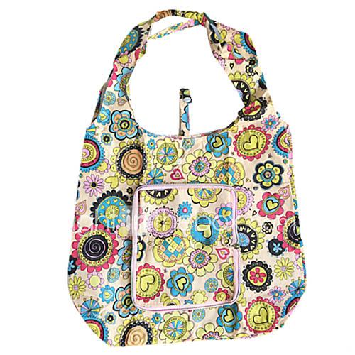 umweltfreundliche bunte Muster Falten Einkaufstasche (gelegentliche Farbe)