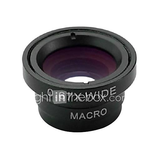 Magnetische 3 in 1 Weitwinkelobjektiv / Makro lens/180 Fischaugen-Objektiv / Kit Set für iPhone 5/4 / iPad / Handy-Black