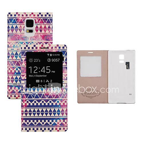 elonbo vintage Streifen Batterie Back Flip Cover Ganzkörper-Fall mit Auto-Sleep-Funktion für Samsung Galaxy i9600 s5