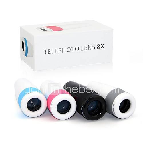 8-fach Zoom Teleskop-Objektiv mit Universalclip für Samsung Handy S3 / S4 / S5 / N9000, iphone und andere