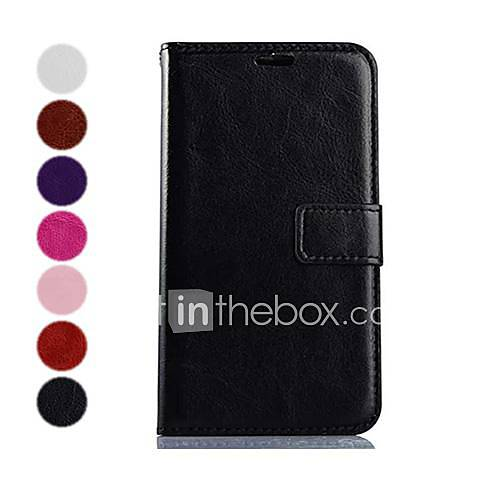 Wallet Style Solid Color PU Leather
