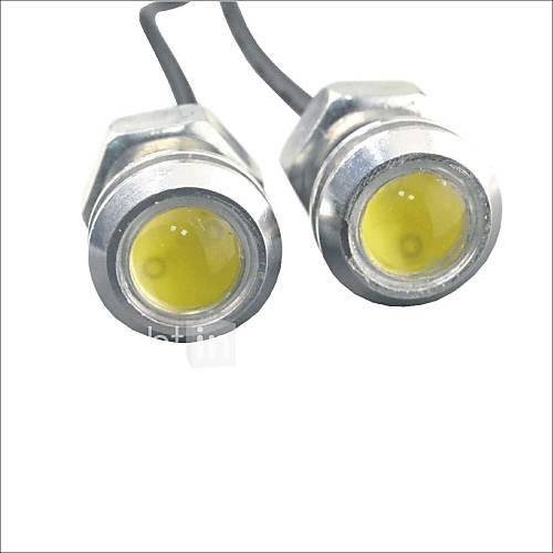 Carking™ 12V 1.5W 18MM Auto Car LED Eagle Eye DayTime Running Light Reverse Lamp-White Light