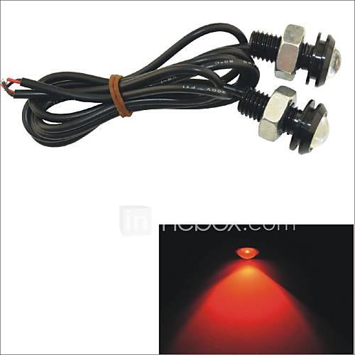Carking™ 12V 1.5W 18MM Auto Car LED Eagle Eye DayTime Running Light Reverse Lamp-Red Light