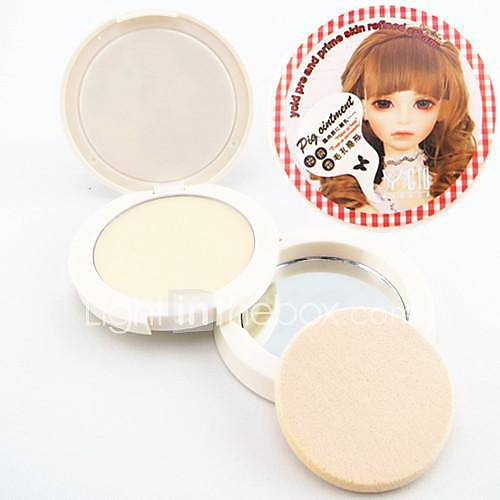3in1 Schwein Fett Öl Steuerung / Porendeckel / Primer Make-up Basis verfeinert glatte Creme (Puderquaste&spiegeln sich in Netto 4,5 g)