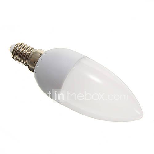 1.5W E14 LED Candle Lights 10 SMD 3528 110-140 lm Cool White AC 100-240 V