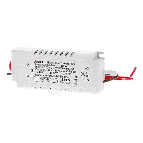 6pcs AC 220-240 V 50/60 Hz 0,33 A AC 12v 35-80w Spannungswandler elektronischen Transformator geführt