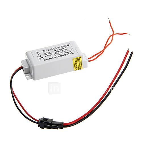 0.3a 4-7w dc 10-25v à courant constant externe alimentation conducteur de courant alternatif pour lampe de LED