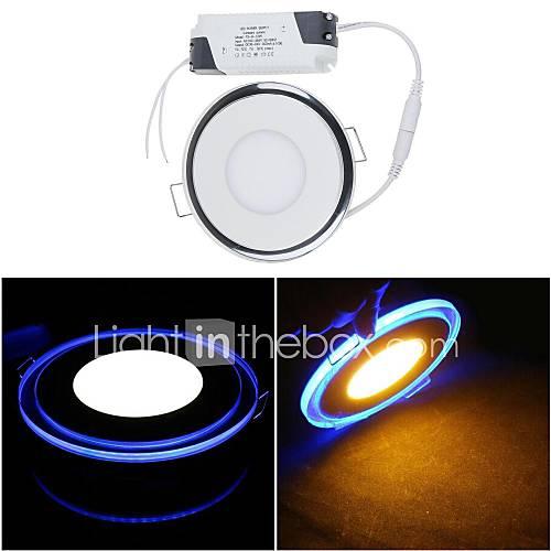 10W 1 SMD 3528 650 LM Warm White / Cool White LED Panel Lights AC 85-265 V