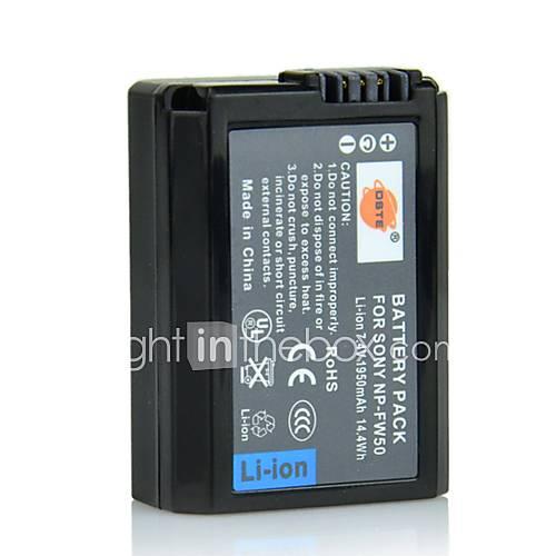 DSTE 7.4 1950mAh NP-FW50 Li-ion Batterie; US Stecker für Sony NEX-7 NEX-6 NEX-5 und Weitere.