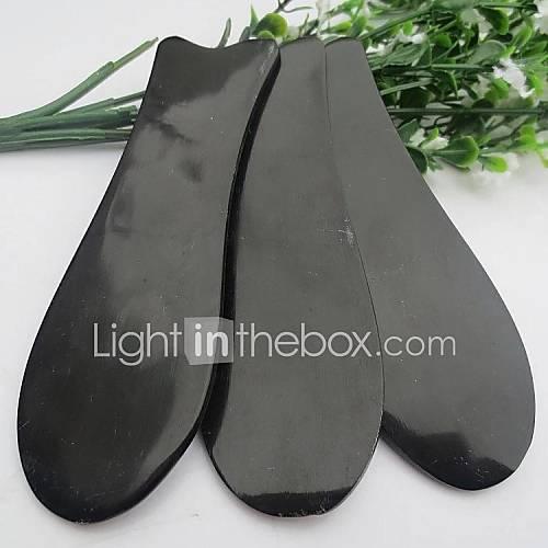Fischform Büffelhorn Guasha Werkzeug für Körpermassage gua sha Werkzeuge chinesischen Akupunktur-Therapie 12,5  4cm