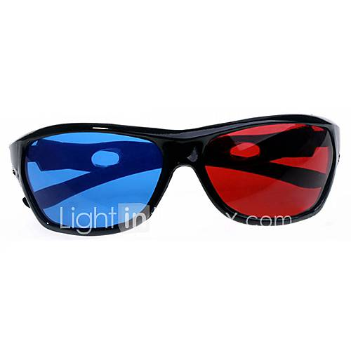 Split-screen Blue Red 3D Glasses for Computer