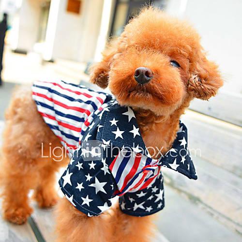 Usa-stella vestiti del cane della camicia