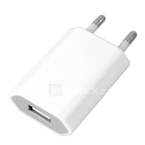 blanco compacto cargador de pared USB europeo de 2 pernos 100 - 240v adaptador de alimentación de viajar a la UE