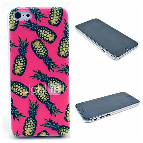 Pink Rose Pineapple Pattern Hard Case for iPhone 6 Plus