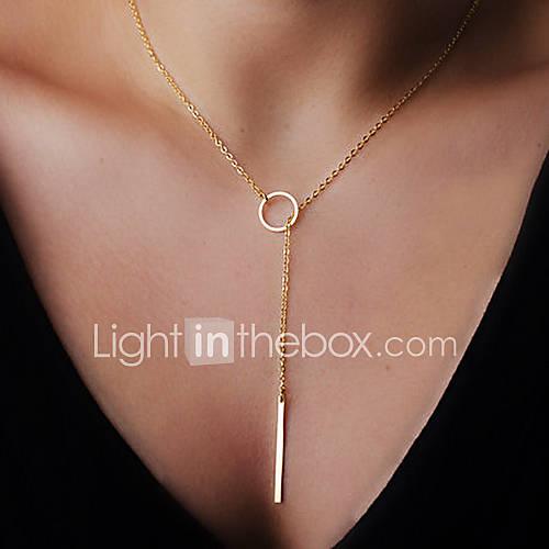 círculo de la moda tira de forma pequeño collar colgante (1 pc) Descuento en Miniinthebox