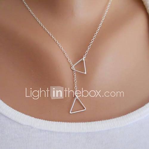 Mujer Collares con colgantes Forma de Triángulo Legierung Diseño Básico Moda Estilo Simple joyería de disfraz Joyas Para Fiesta