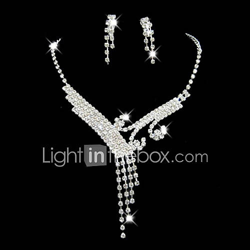 Women's Rhinestone Costume Jewelry Alloy For Wedding Party Special Occasion Anniversary Birthday Engagement Gift Wedding Gifts