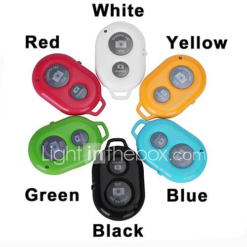 Bluetooth Remote Control Self Timer Camera Shutter for Samsung Phones with  iOS Android Phone (Assorted Colors)