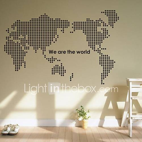 Wall Stickers Wall Decals World Map PVC Wall Stickers