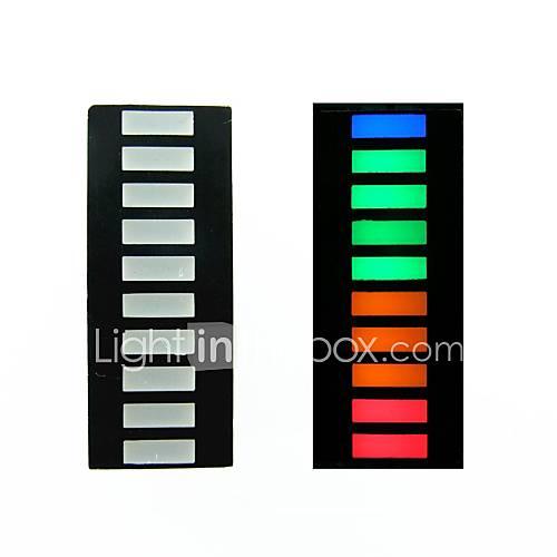 10-Segment-4-Farb-LED-Lichtleiste digitalen Rohr (20-polig)