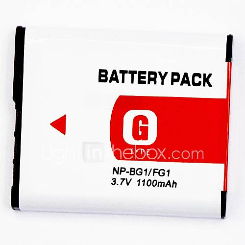 1100mAh Digitalkamera-Akku NP-BG1 / fg1 für anwendbar Sony DSC-W30 DSC-w30l dsc-w30s dsc-w35-w30w dsc dsc-w40