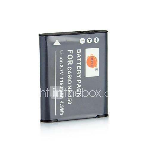 DSTE 3,7 V / 1150mAh NP-150-Akku für Casio EX-TR300 TR15 TR10 tr350 Kamera