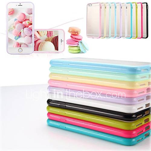 TPU Frame Scrub PC Back Cover Case for iPhone 6s 6 Plus