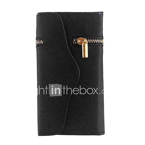 Cerniera unica pu wallet vibrazione magnetica
