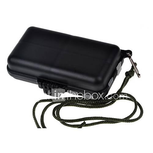 schwarze Kunststoff wasserdicht Fishing Tackle Box
