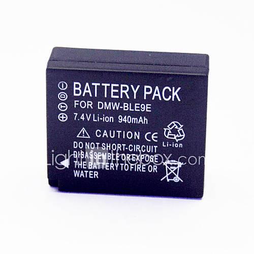 940mAh 7.4V Digitalkamera-Akku DMW-ble9e für Panasonic Lumix GF3 anwendbar gf3gk dmcs6k cf3kbody