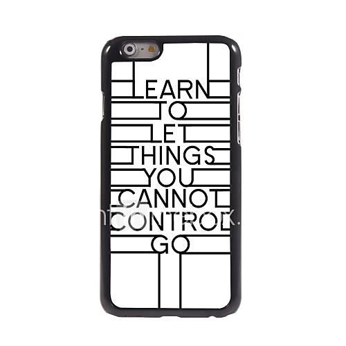 einzigartig einfach loslassen Design Aluminium-Hülle für das iPhone 6 Plus