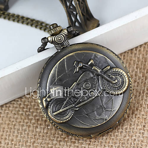 bici da uomo in lega analogico al quarzo orologio da tasca (bronzo)
