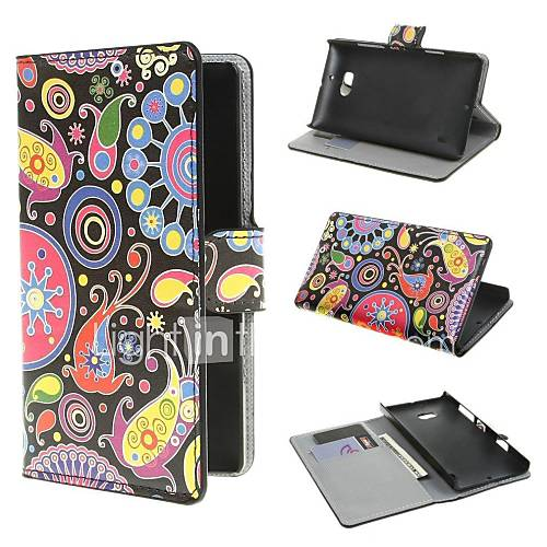 Jellyfish Pattern PU Leather Case Cover