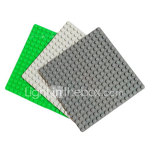 16x16 DIY lego Block Ziegel baut Partikelplatte erleuchten Spielzeug