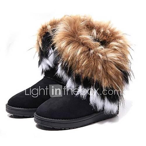 Frauen qualitativ hochwertige Mode joker reine Farbe Anti-Rutsch-warme Stiefel Schnee