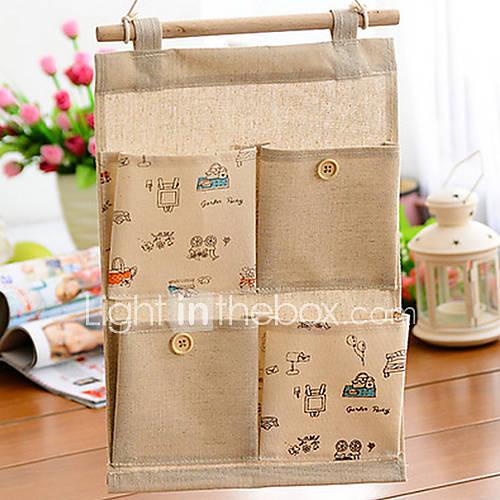3001 im japanischen Stil Baumwollaufbewahrungshängetasche
