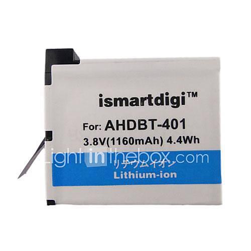 ismartdigi 401 1160mah Kamera Akku für GoPro 4 Kamera AHDBT 401