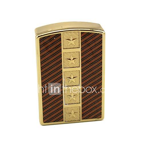 persönliche Gravur zackigen Stern Goldmetall Elektronik-Feuerzeug