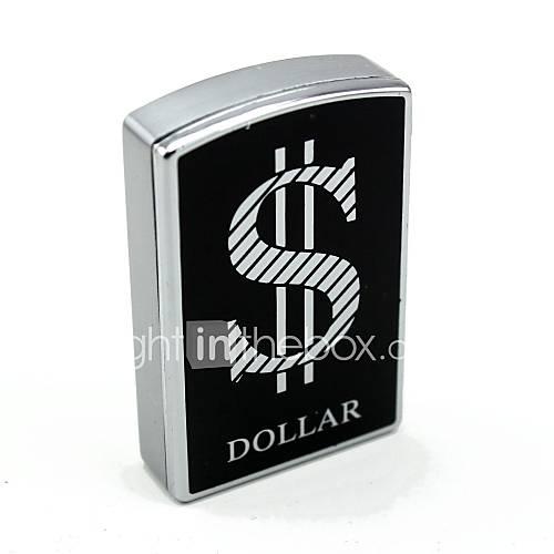 persönliche Gravur Dollarzeichen Silbermetall Elektronik-Feuerzeug