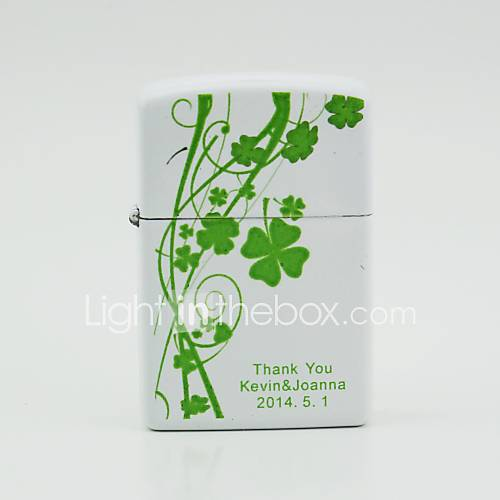 personalisiertem weißem Öl Feuerzeuge - Klee