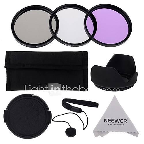 neewer 58mm UV  CPL  FLD Filter Kit-Set für Canon EOS Rebel