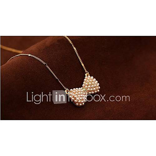 Women's Fashion Pendant Necklace Pearl Necklace Pearl Rhinestone Gold Plated Alloy Pendant Necklace Pearl Necklace  Party Daily Casual