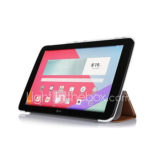 pajiatu PU-Leder Seide Korn Folio Stand Tablet Case Schutzhülle Skin für lg g Pad 10.1 V700 (verschiedene Farben)
