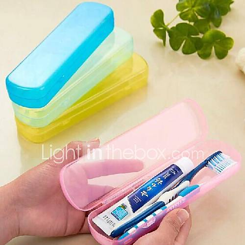 Travel Travel Toothbrush Container/Protector Toiletries Portable / Durable Plastic