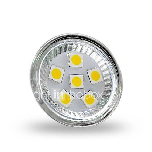 MR11 2W 6x5050smd 200lm 2800-3200k warnen weißes Licht LED Spot Lampe (12 V DC)