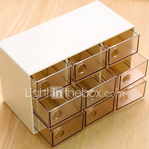 einfache neun Schubladen Schmuck Aufbewahrungsbox